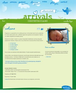 babyarrivals website by quantum seo solutions