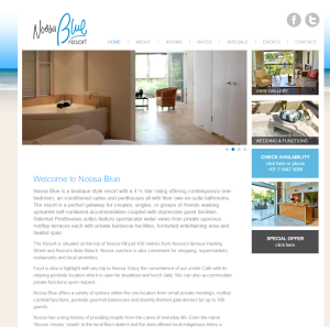 Noosa Blue website by quantum seo solutions